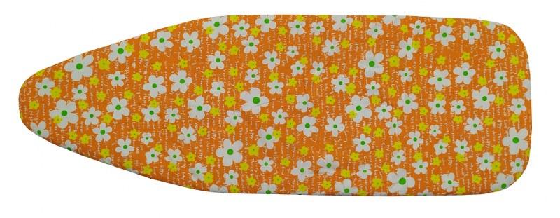 Σιδερόπανο 140×50εκ. Polycotton Orange Flowers (Χρώμα: Πορτοκαλί) – KOMVOS HOME – 7006148-3