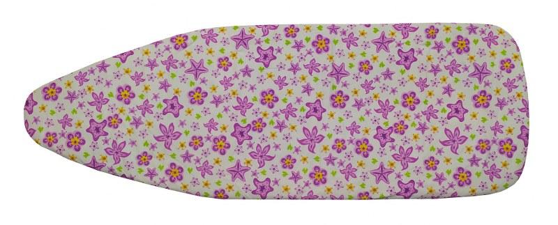 Σιδερόπανο 140×50εκ. Polycotton Purple Flowers (Χρώμα: Μωβ) – KOMVOS HOME – 7006148-6