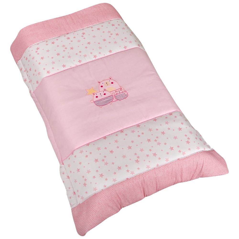 Πάπλωμα Βαμβακερό Κούνιας 110×160εκ. The Bobos Pink (Ύφασμα: Βαμβάκι 100%, Χρώμα: Ροζ) – Ο Κόσμος του Μωρού – 5205626602118