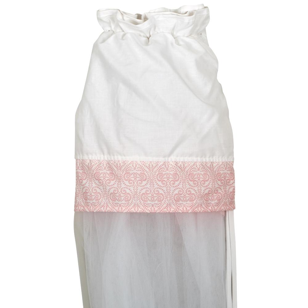Κουνουπιέρα Κρεβατιού Nylon-Βαμβακερή 180×540εκ. Volt Pink (Ύφασμα: Βαμβάκι 100%, Υλικό: Nylon, Χρώμα: Λευκό) – Ο Κόσμος του Μωρού – 5205626801214