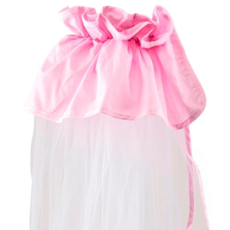 Κουνουπιέρα Λίκνου Nylon-Βαμβακερή 160×360εκ. Pink (Ύφασμα: Βαμβάκι 100%, Υλικό: Nylon, Χρώμα: Λευκό) – Ο Κόσμος του Μωρού – 5205626850014