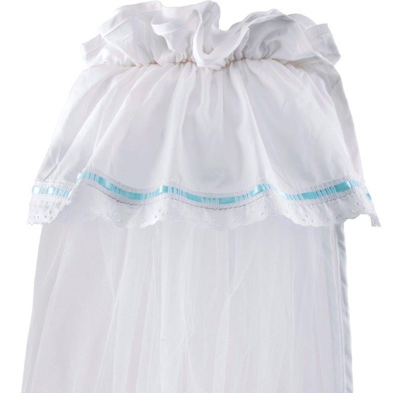 Κουνουπιέρα Λίκνου Nylon-Βαμβακερή 160×360εκ. Δαντέλα Ciel (Ύφασμα: Βαμβάκι 100%, Υλικό: Nylon, Χρώμα: Λευκό) – Ο Κόσμος του Μωρού – 5205626853022