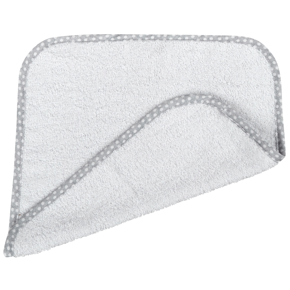 Λαβέτα Βαμβακερή 30×30εκ. Poua Grey (Ύφασμα: Βαμβάκι 100%, Χρώμα: Λευκό) – Ο Κόσμος του Μωρού – 5205626151456