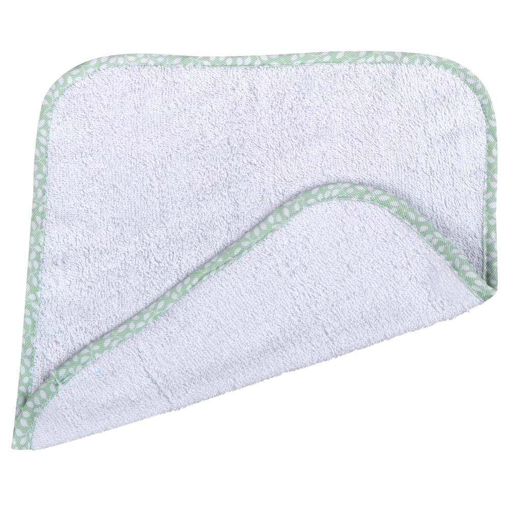 Λαβέτα Βαμβακερή 30×30εκ. Φυλλαράκια Mint (Ύφασμα: Βαμβάκι 100%, Χρώμα: Λευκό) – Ο Κόσμος του Μωρού – 5205626151463