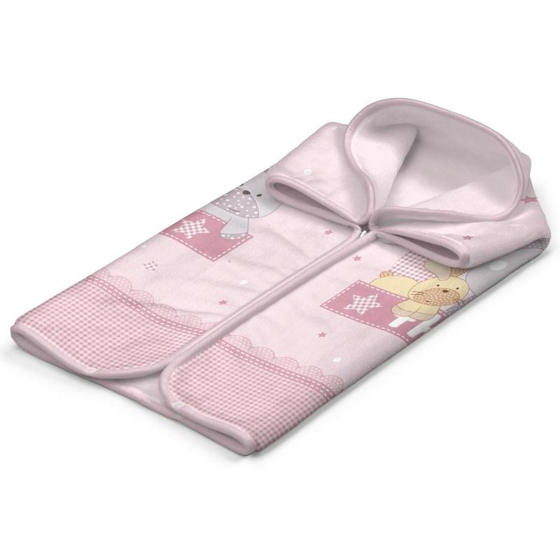 Κουβέρτα-Υπνόσακος Βελουτέ 80×90εκ. The Farm 0066 Pink (Ύφασμα: Polyester, Χρώμα: Ροζ) – BELPLA – 5205626000662-the-farm-pink