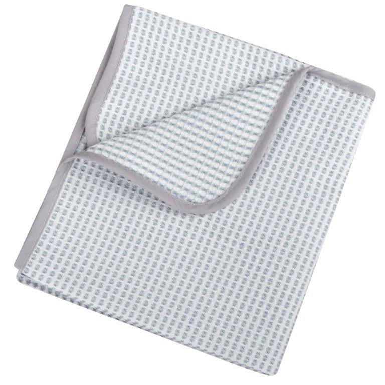Κουβέρτα Πικέ Βαμβακερή Αγκαλιάς 75×100εκ. 0332 Grey – Ο Κόσμος του Μωρού – 5205626003328-grey