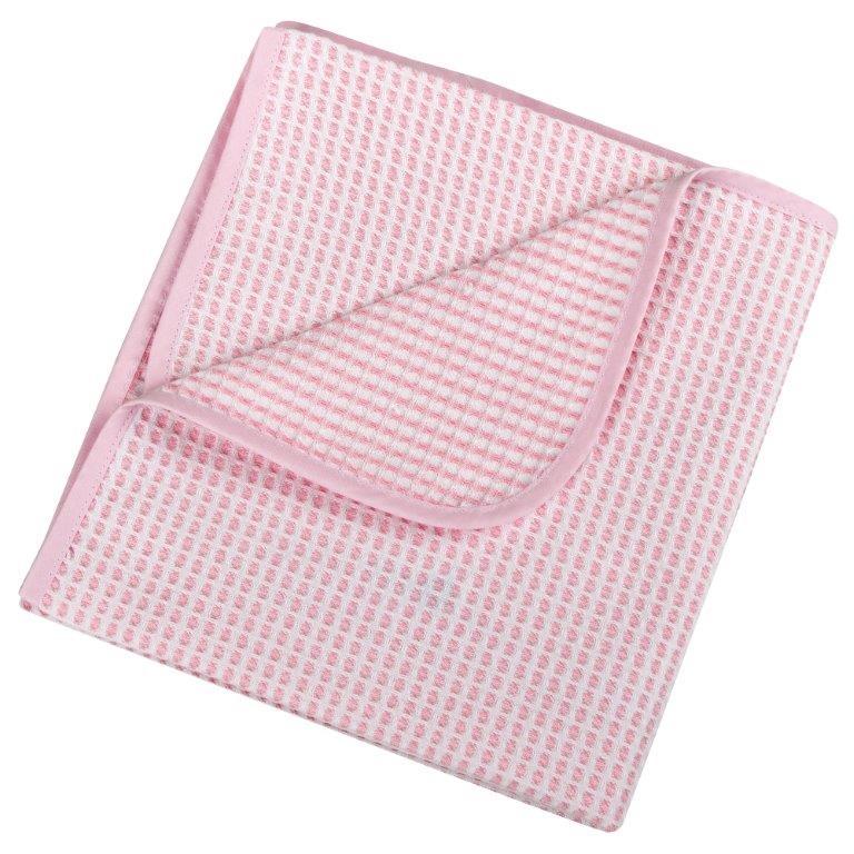 Κουβέρτα Πικέ Βαμβακερή Αγκαλιάς 75×100εκ. 0332 Pink – Ο Κόσμος του Μωρού – 5205626003328-pink