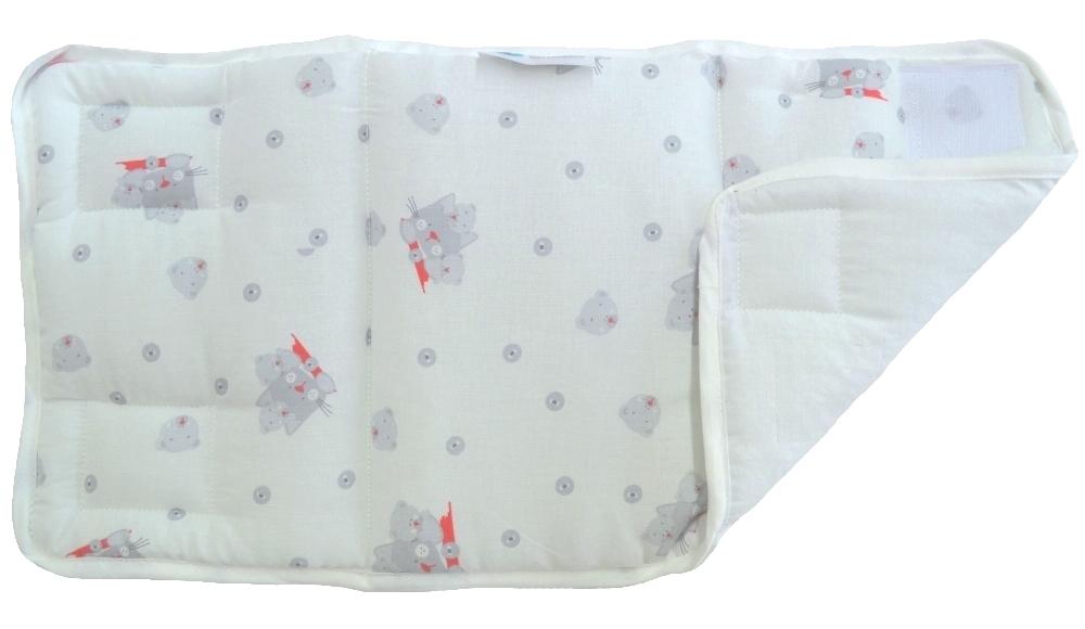 Σετ 4 τμχ Προστατευτικά για Κάγκελα 24×48εκ. Cats Grey (Ύφασμα: Βαμβάκι 100%, Χρώμα: Γκρι) – Ο Κόσμος του Μωρού – 5205626917656