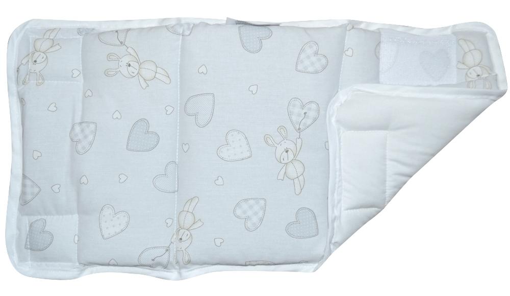 Σετ 4 τμχ Προστατευτικά για Κάγκελα 24×48εκ. Hearts Grey (Ύφασμα: Βαμβάκι 100%, Χρώμα: Γκρι) – Ο Κόσμος του Μωρού – 5205626917557