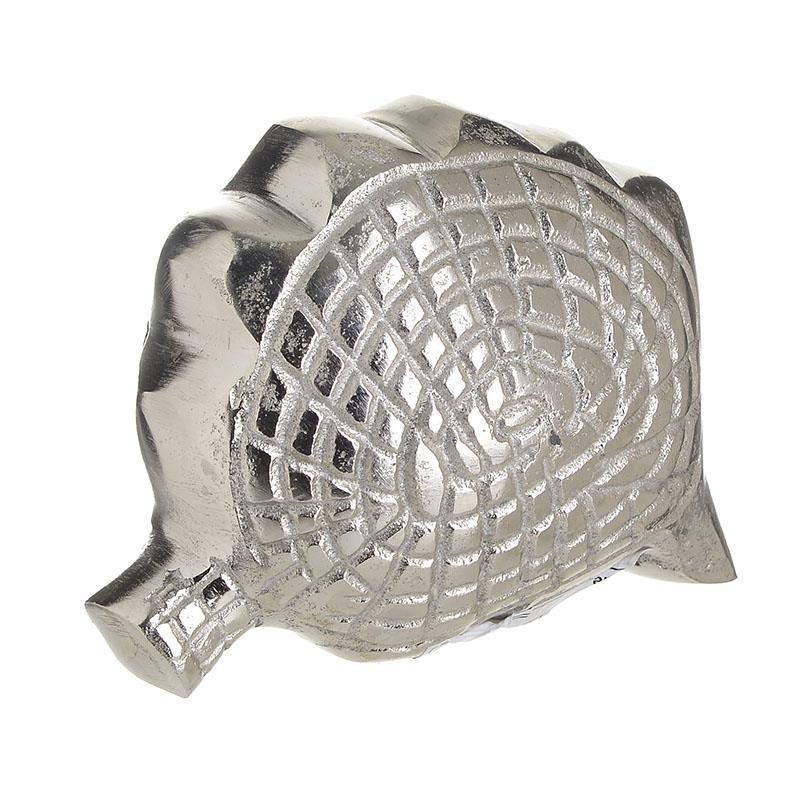 Διακοσμητικό Κοχύλι Αλουμινίου inart 14x8x10εκ. 4-70-357-0004 (Υλικό: Αλουμίνιο, Χρώμα: Ασημί ) - inart - 4-70-357-0004