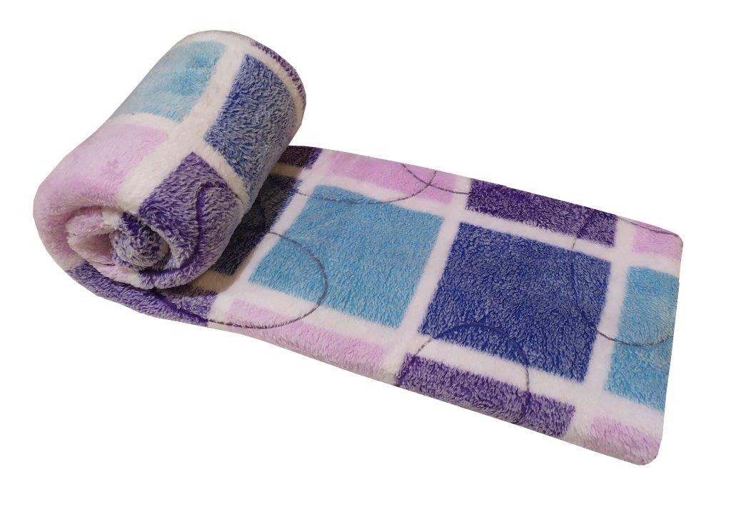 Κουβέρτα Μονή 150×210εκ. Fleece 3D Ανάγλυφη Squares (Ύφασμα: Polyester, Χρώμα: Ροζ) – KOMVOS HOME – 7011470-3