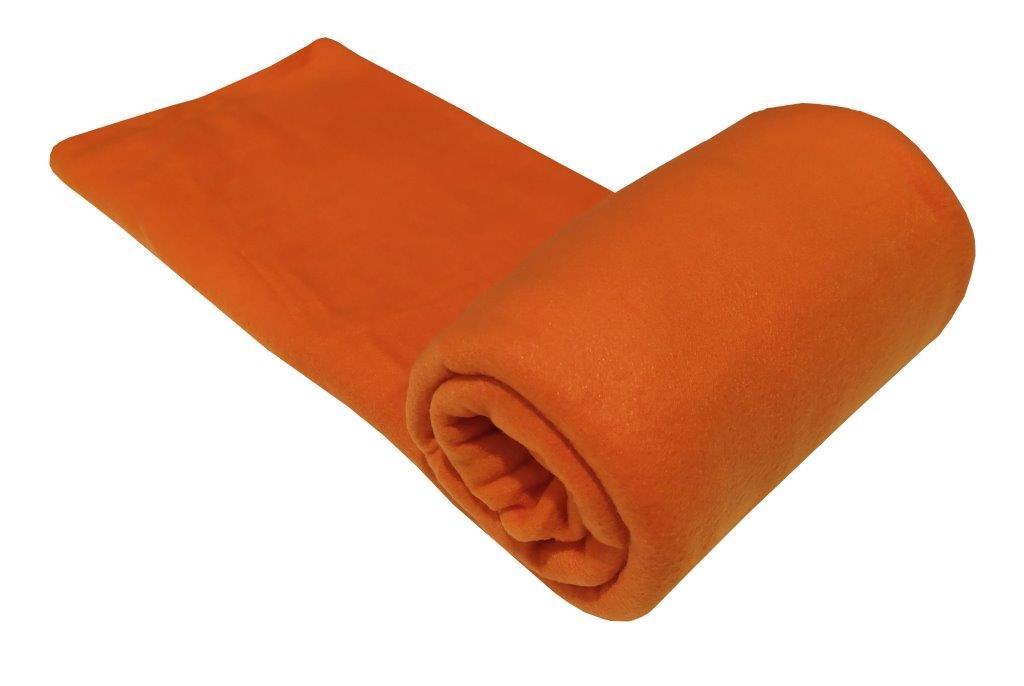 Κουβέρτα Μονή 150×220εκ. Fleece Orange (Ύφασμα: Polyester, Χρώμα: Πορτοκαλί) – KOMVOS HOME – 7010480-4