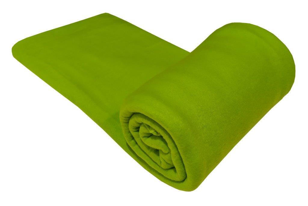 Κουβέρτα Μονή 150x220εκ. Fleece Light Green (Ύφασμα: Polyester, Χρώμα: Πράσινο ) - KOMVOS HOME - 7010480-3