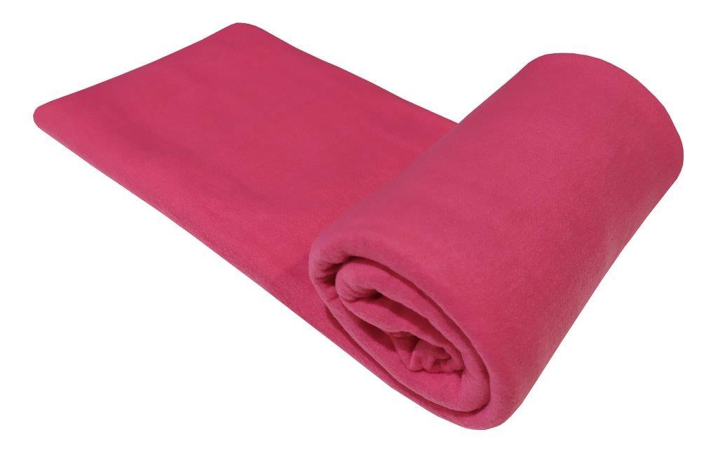 Κουβέρτα Μονή 150×220εκ. Fleece Fuchsia (Ύφασμα: Polyester, Χρώμα: Φούξια) – KOMVOS HOME – 7010480-2