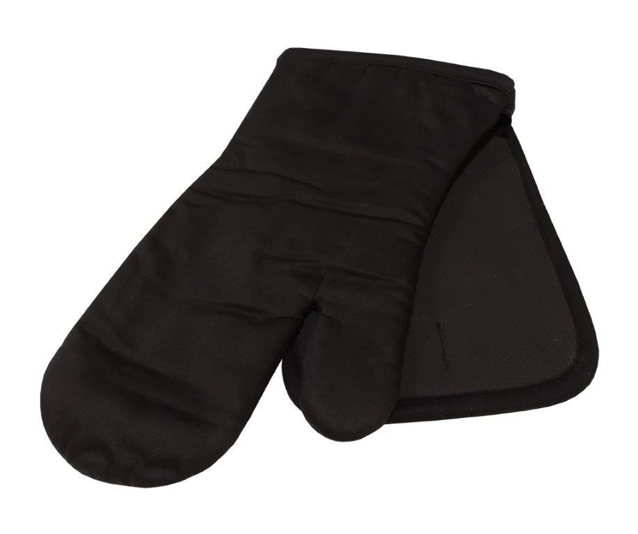 Σετ Πιάστρα-Γάντι Κουζίνας Βαμβακερό Ενισχυμένο Black (Ύφασμα: Βαμβάκι 100%, Χρώμα: Μαύρο) – KOMVOS HOME – 7122121-1