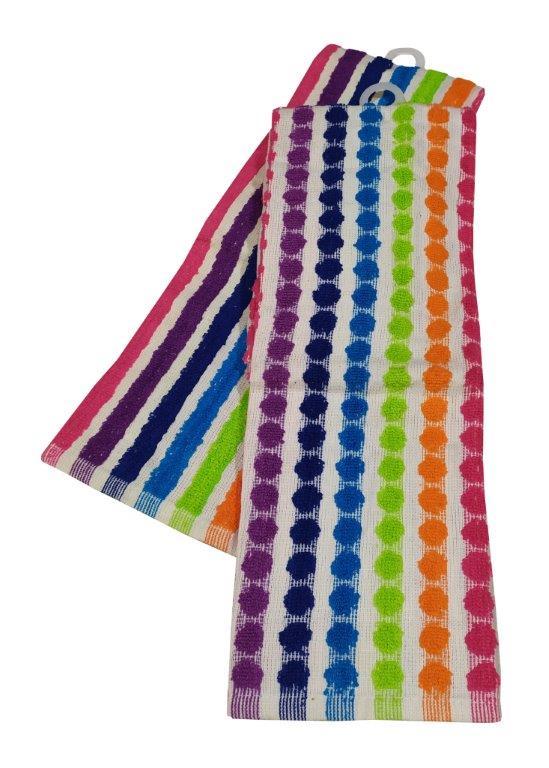 Σετ Ποτηρόπανα 2τμχ Βαμβακερά 45x65εκ. Luxury Rainbow (Ύφασμα: Βαμβάκι 100%) - KOMVOS HOME - 7001167-5