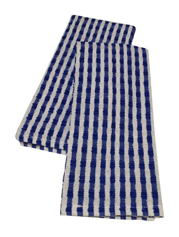 Σετ Ποτηρόπανα 2τμχ Βαμβακερά 40x60εκ. Basic Blue (Ύφασμα: Βαμβάκι 100%, Χρώμα: Μπλε) - KOMVOS HOME - 7732009-1