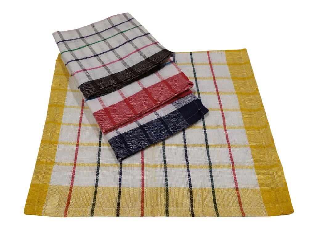 Σετ Ποτηρόπανα 4τμχ Υφαντά Βαμβακερά 40x60εκ. (Ύφασμα: Βαμβάκι 100%, Χρώμα: Μαύρο) - KOMVOS HOME - 7003543-1