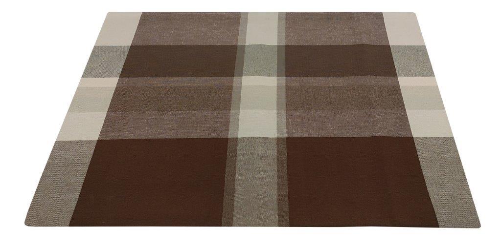 Τραπεζομάντηλο-Λονέτα Υφαντό 140×140εκ. Καρό Brown-Beige (Ύφασμα: 50%Cotton-50%Polyester, Χρώμα: Καφέ) – KOMVOS HOME – 7003833-5