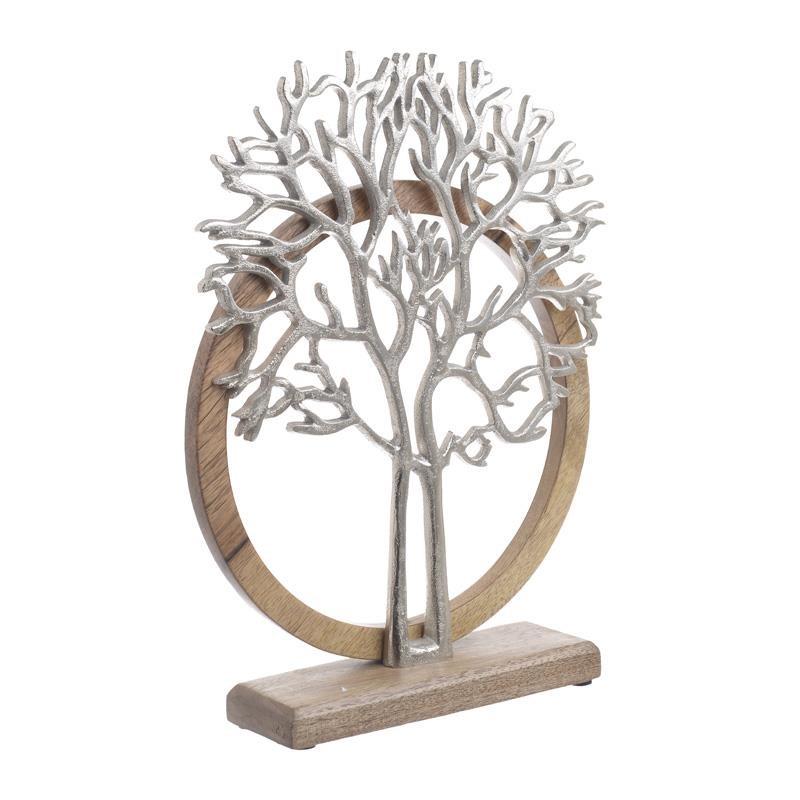 Διακοσμητικό Δέντρο Ξύλινο-Μεταλλικό inart 20x8x26εκ. 3-70-357-0117 (Υλικό: Ξύλο, Χρώμα: Μπεζ) – inart – 3-70-357-0117