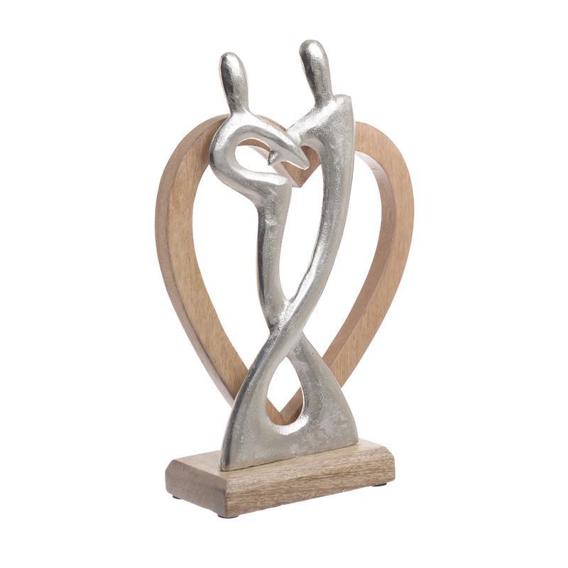 Διακοσμητική Καρδιά Ξύλινη-Μεταλλική inart 24x8x33εκ. 3-70-357-0120 (Υλικό: Ξύλο, Χρώμα: Μπεζ) – inart – 3-70-357-0120