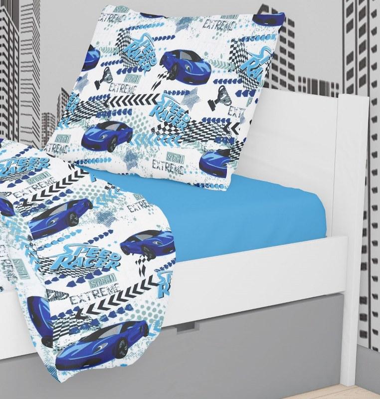Μαξιλαροθήκη Polycotton 50×70εκ. Speed Racer 291 Dimcol (Ύφασμα: 70% Βαμβάκι-30% Polyester) – DimCol – 1925883125029198