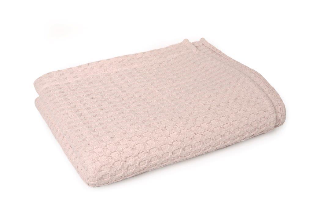 Κουβέρτα Πικέ King 245x255εκ. Dimcol (Ύφασμα: Βαμβάκι 100%, Χρώμα: Ροζ) - DimCol - 1930418888633526