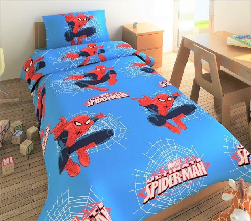 Κουβερλί Micropercalle Μονό 170×260εκ. Spiderman 661 Disney Dimcol – Disney – 2120136905266199