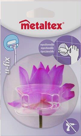 Γάντζος 2 Θέσεων 8,5εκ. Επαναχρησιμοποιούμενος 16-294803 Metaltex - METALTEX - 16-294803-pink