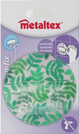Γάντζος 2 Θέσεων 8,5εκ. Επαναχρησιμοποιούμενος 16-294803 Metaltex – METALTEX – 16-294803-green