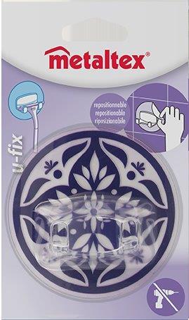 Γάντζος 2 Θέσεων 8,5εκ. Επαναχρησιμοποιούμενος 16-294803 Metaltex – METALTEX – 16-294803-purple
