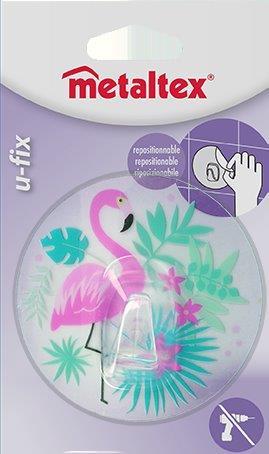 Γάντζος 8,5εκ. Επαναχρησιμοποιούμενος 16-294805 Metaltex – METALTEX – 16-294805-flamingo