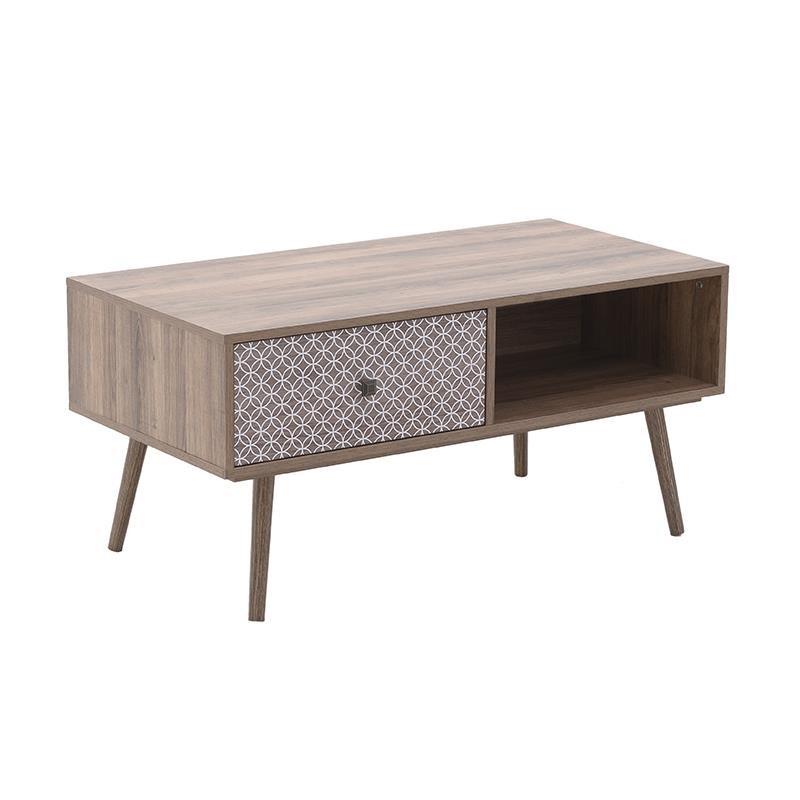 Τραπέζι Σαλονιού Ξύλινο CLICK 100x50x47εκ. 6-50-308-0004 (Υλικό: Ξύλο, Χρώμα: Μπεζ) - CLICK - 6-50-308-0004