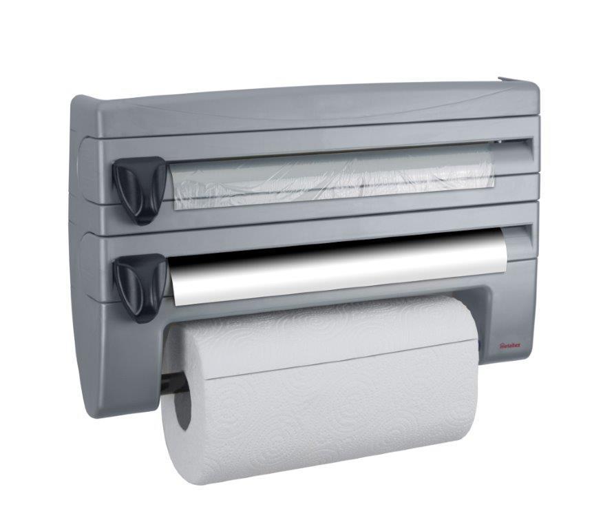 Πολυθήκη Κουζίνας ROLL&ROLL 39x10x25εκ. Metaltex – METALTEX – 254410-grey