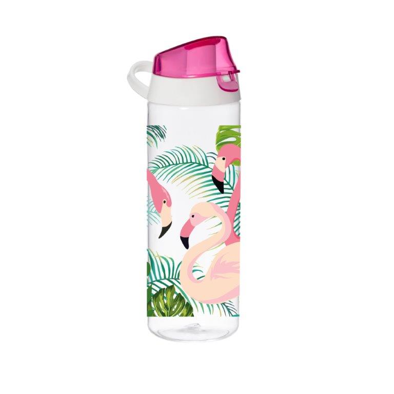 Μπουκάλι Νερού Πλαστικό 750cc Veltihome 16150 Flamingo (Υλικό: Πλαστικό) – VELTIHOME – 16150-flamingo