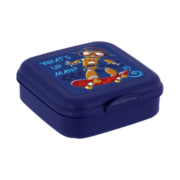 Φαγητοδοχείο Πλαστικό Sandwich Veltihome 161457-004 (Υλικό: Πλαστικό, Χρώμα: Μπλε) – VELTIHOME – 161457-004
