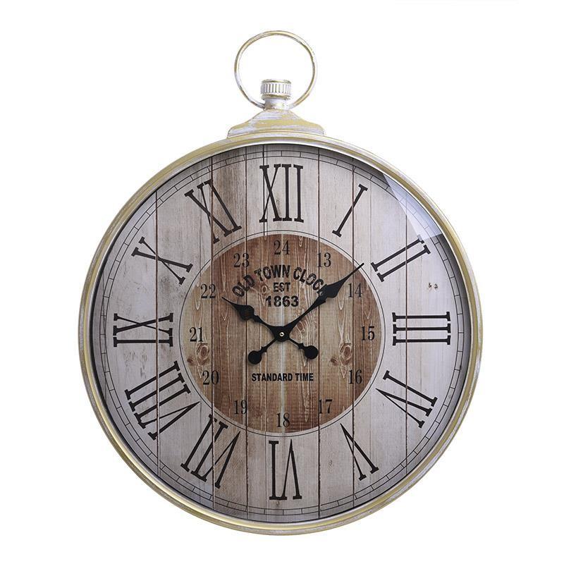 Ρολόι Τοίχου Μεταλλικό Αντικέ inart 67×5,5×85εκ. 3-20-773-0303 (Υλικό: Μεταλλικό, Χρώμα: Εκρού ) – inart – 3-20-773-0303