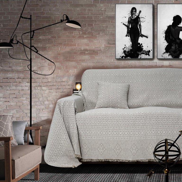 Διακοσμητική Μαξιλαροθήκη Polycotton 40x40εκ. Marsela Grey Sb home (Ύφασμα: 80% Cotton - 20% Polyester, Χρώμα: Γκρι) - Sb home - 5206864054974