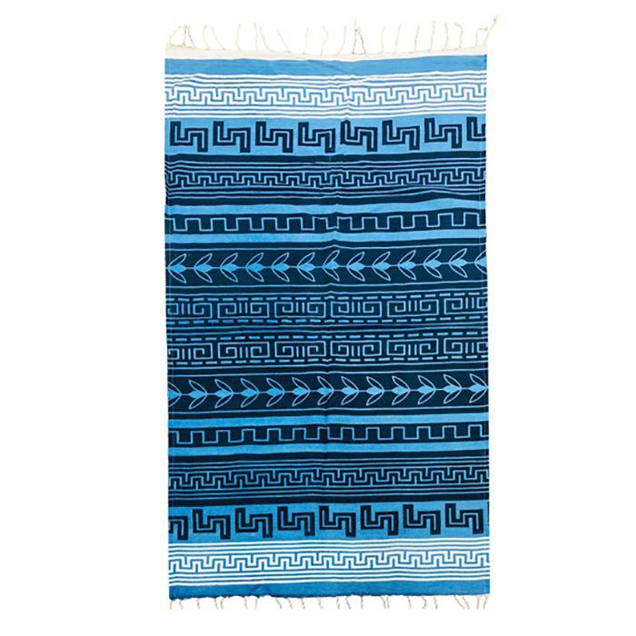 Πετσέτα Θαλάσσης Βαμβακερή Pestemal 90×180εκ. Summer Tiempo (Ύφασμα: Βαμβάκι 100%, Χρώμα: Μπλε) – SUMMER tiempo – 42-2395-blue