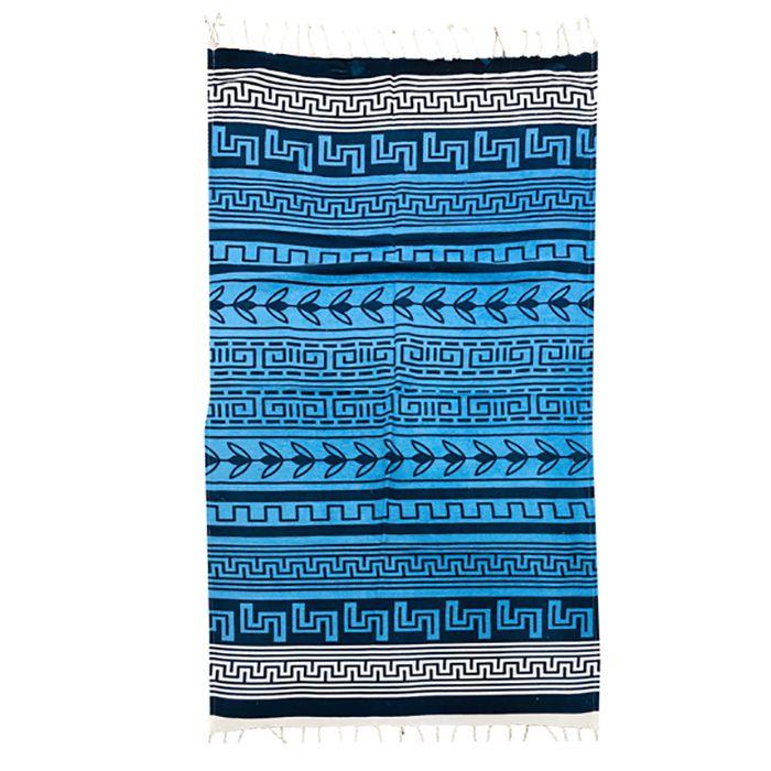 Πετσέτα Θαλάσσης Βαμβακερή Pestemal 90×180εκ. Summer Tiempo (Ύφασμα: Βαμβάκι 100%, Χρώμα: Μπλε) – SUMMER tiempo – 42-2395-dark-blue