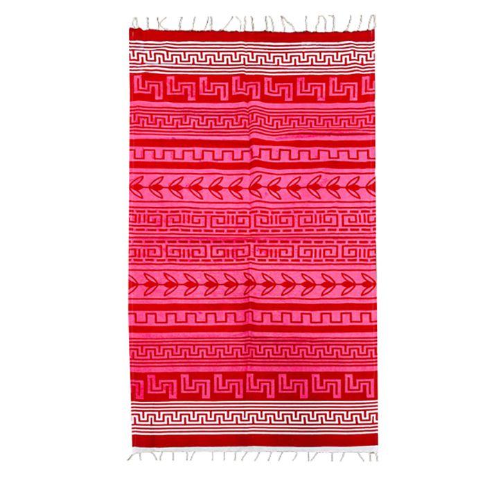 Πετσέτα Θαλάσσης Βαμβακερή Pestemal 90×180εκ. Summer Tiempo (Ύφασμα: Βαμβάκι 100%, Χρώμα: Κόκκινο) – SUMMER tiempo – 42-2395-red