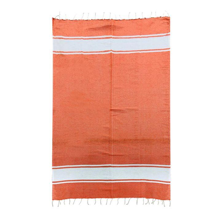 Πετσέτα Θαλάσσης Βαμβακερή Pestemal 90×180εκ. Summer Tiempo (Ύφασμα: Βαμβάκι 100%, Χρώμα: Πορτοκαλί) – SUMMER tiempo – 42-2396-orange