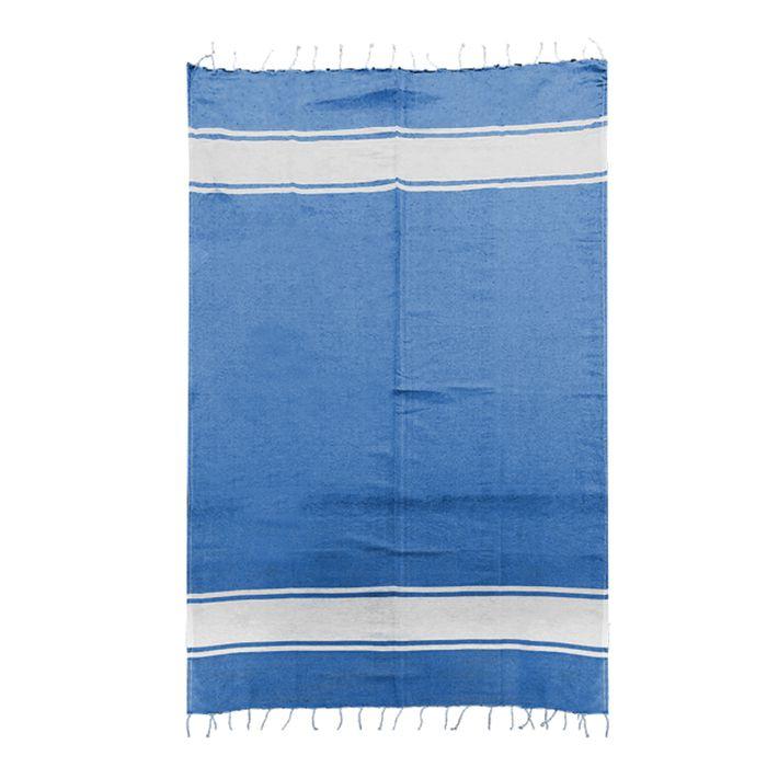 Πετσέτα Θαλάσσης Βαμβακερή Pestemal 90×180εκ. Summer Tiempo (Ύφασμα: Βαμβάκι 100%, Χρώμα: Μπλε) – SUMMER tiempo – 42-2396-dark-blue