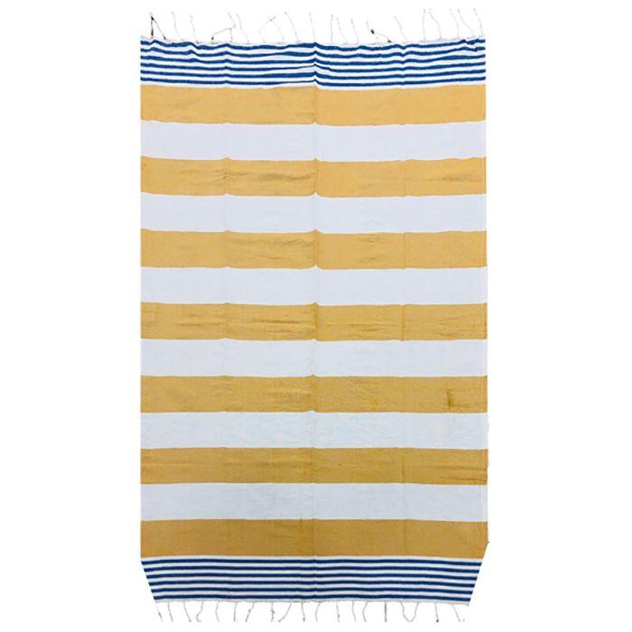 Πετσέτα Θαλάσσης Βαμβακερή Pestemal 90×180εκ. Summer Tiempo (Ύφασμα: Βαμβάκι 100%, Χρώμα: Κίτρινο ) – SUMMER tiempo – 42-2397-yellow