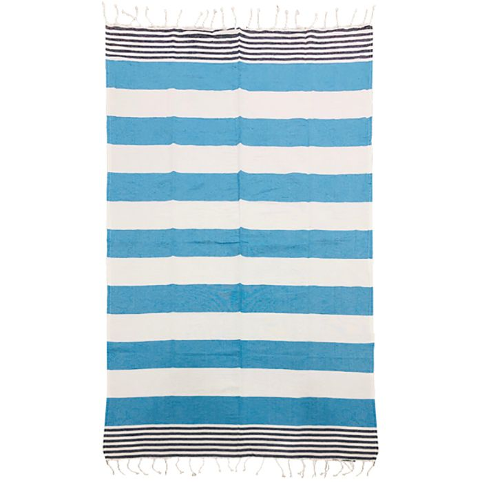Πετσέτα Θαλάσσης Βαμβακερή Pestemal 90×180εκ. Summer Tiempo (Ύφασμα: Βαμβάκι 100%, Χρώμα: Τυρκουάζ) – SUMMER tiempo – 42-2397-tyrqoise