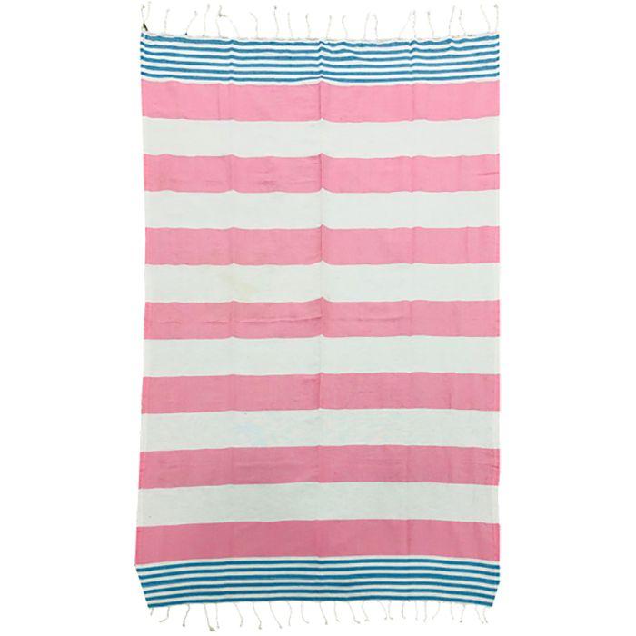 Πετσέτα Θαλάσσης Βαμβακερή Pestemal 90×180εκ. Summer Tiempo (Ύφασμα: Βαμβάκι 100%, Χρώμα: Ροζ) – SUMMER tiempo – 42-2397-pink