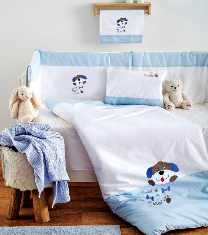 Σετ Κούνιας 3τμχ Βαμβακερά Pluto Blue Sb home (Ύφασμα: Βαμβάκι 100%, Χρώμα: Μπλε) – Sb home – 5206864055957