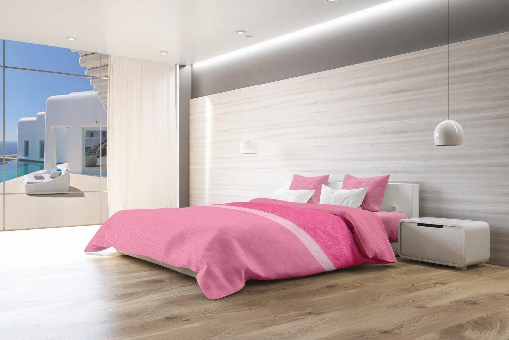 Σετ Σεντόνια Βαμβακερά Υπέρδιπλα Με Λάστιχο 160x200+20εκ. Makis Tselios Exotica Pink (Ύφασμα: Βαμβάκι 100%, Χρώμα: Ροζ) - Makis Tselios - 105760123456