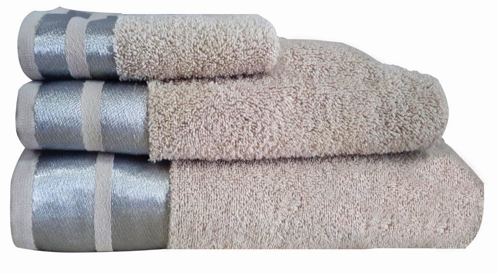 Πετσέτα Μεμονωμένη Βαμβακερή Σώματος 90×150εκ. Makis Tselios Ice Beige (Ύφασμα: Βαμβάκι 100%, Χρώμα: Μπεζ) – Makis Tselios – 301720123456