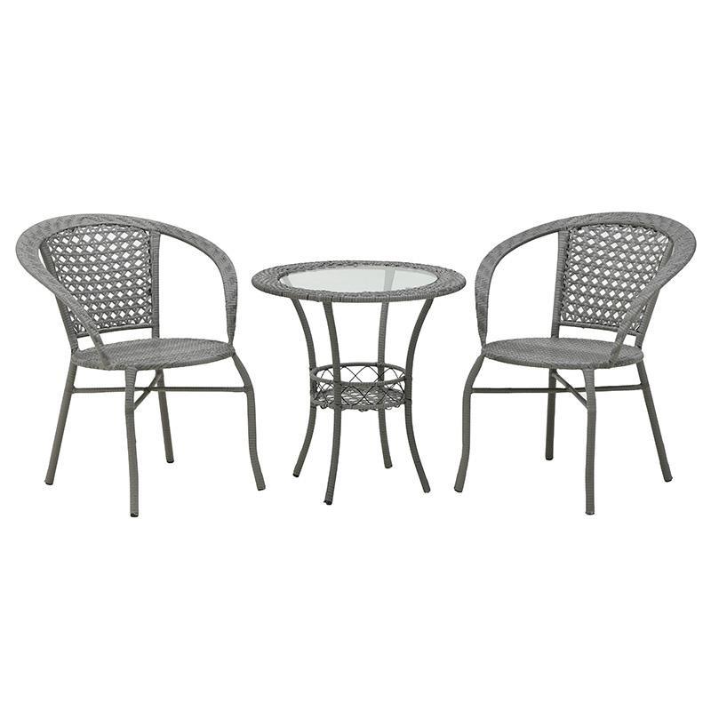 Σετ Τραπέζι Με Καρέκλες Μεταλλικό-Πλαστικό CLICK 6-50-715-0001 (Υλικό: Μεταλλικό, Χρώμα: Γκρι) – CLICK – 6-50-715-0001